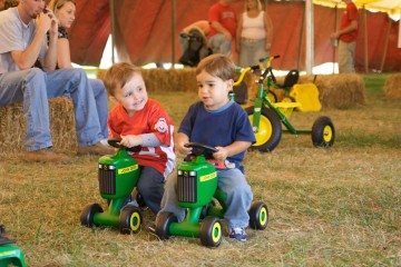 friends on tractor youngs dairy
